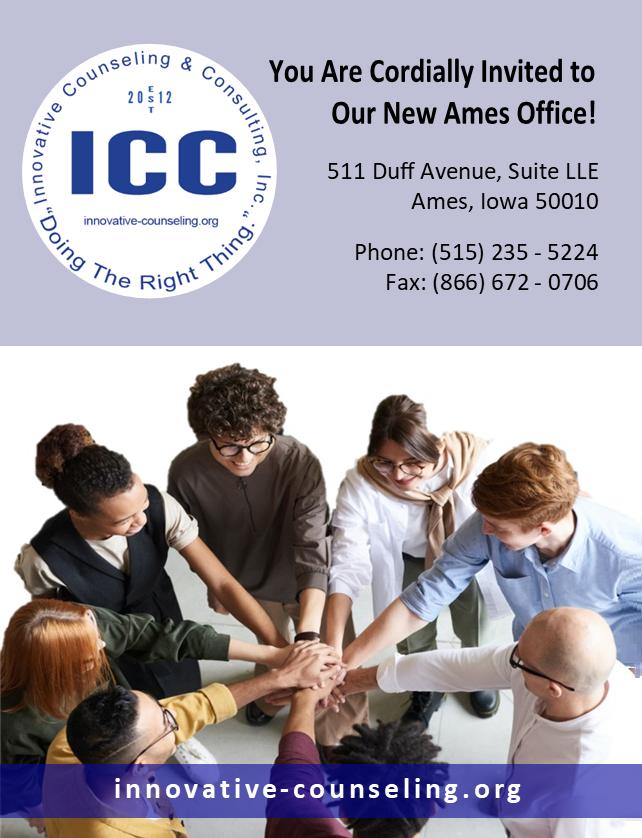 ICC Mini Flyer (Ames, front, blue)(2021-10-01a)